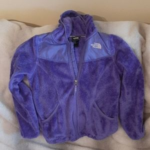Girls The North Face Hooded Fleece Jacket M